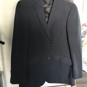 Black Kenneth Cole Reaction Suit pinstripe